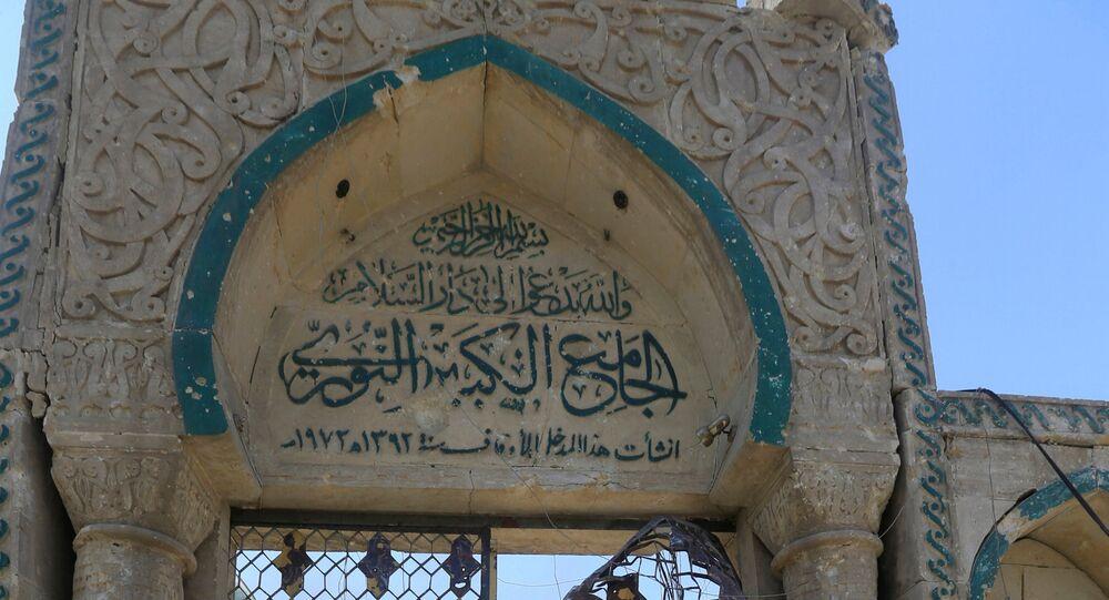 أنقاض مسجد النوري