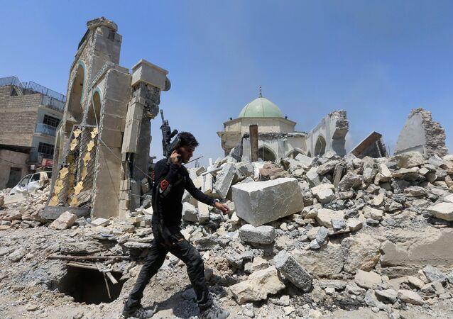 تدمير شبه كامل لمسجد النوري بالموصل