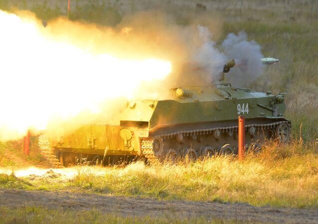 إطلاق صاروخ موجه مضاد للدبابات