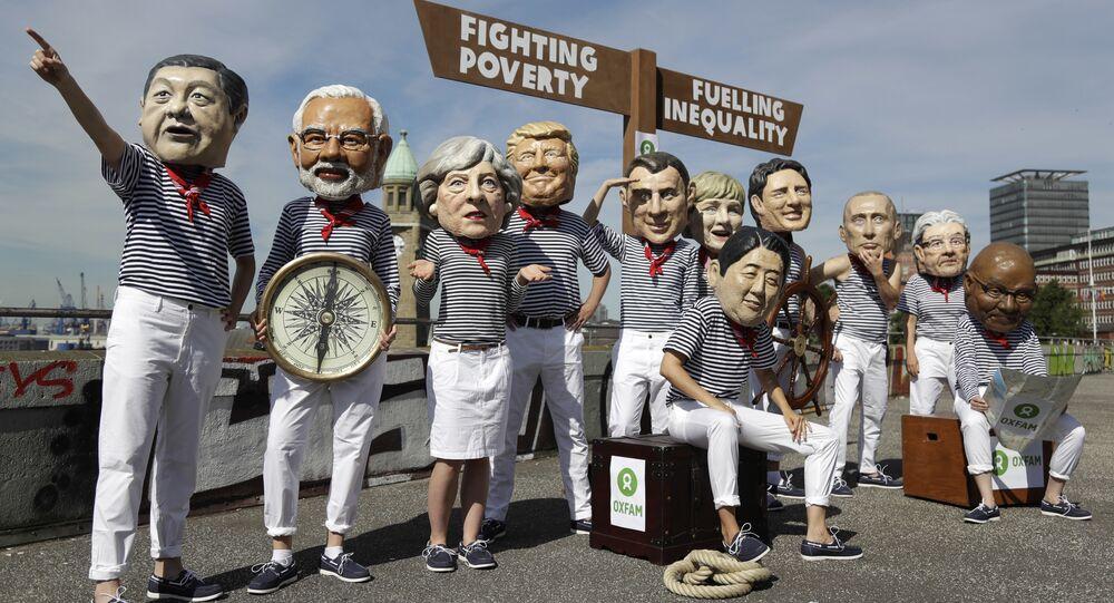 مظاهرات ضد قمة المجموعة 20 في هامبورغ، ألمانيا 6 يوليو/ تموز 2017