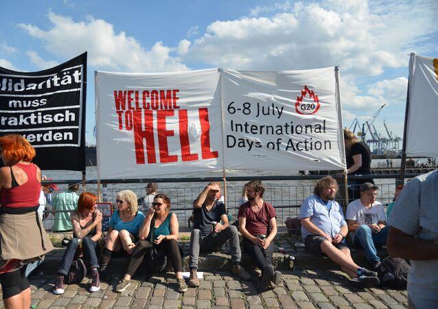 المعارضة في هامبورغ قبل حلول قمة العشرين