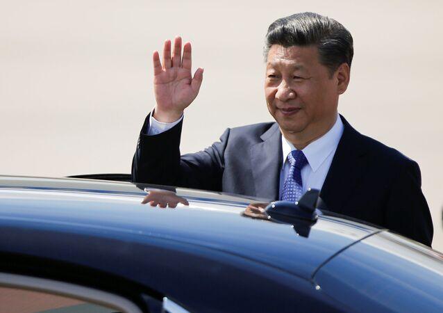 قمة مجموعة العشرين - رئيس جمهورية الصين الشعبية شي جين بينغ في هامبورغ، ألمانيا 6 يوليو/ تموز 2017