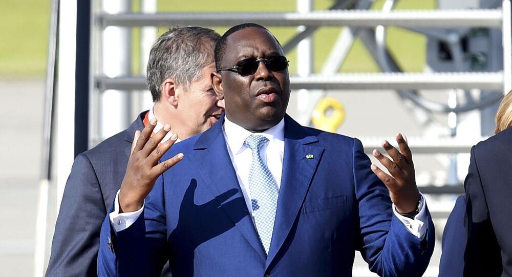 قمة مجموعة العشرين - رئيس السنغال ماكي سال في هامبورغ، ألمانيا 6 يوليو/ تموز 2017
