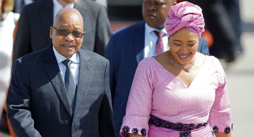قمة مجموعة العشرين - رئيس جمهورية جنوب أفريقيا جاكوب زوما وزوجته في هامبورغ، ألمانيا 6 يوليو/ تموز 2017