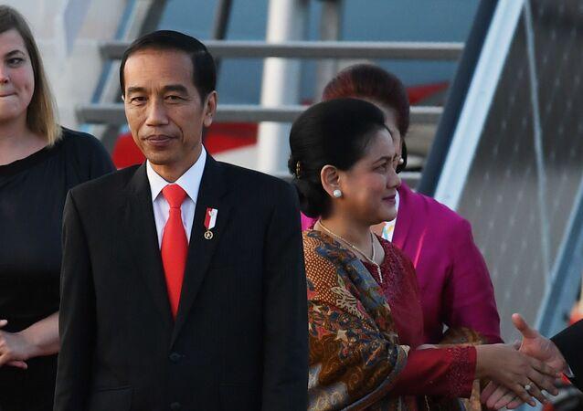 قمة مجموعة العشرين - رئيس جمهورية إندونيسيا  جوكو ويدودو في هامبورغ، ألمانيا 6 يوليو/ تموز 2017