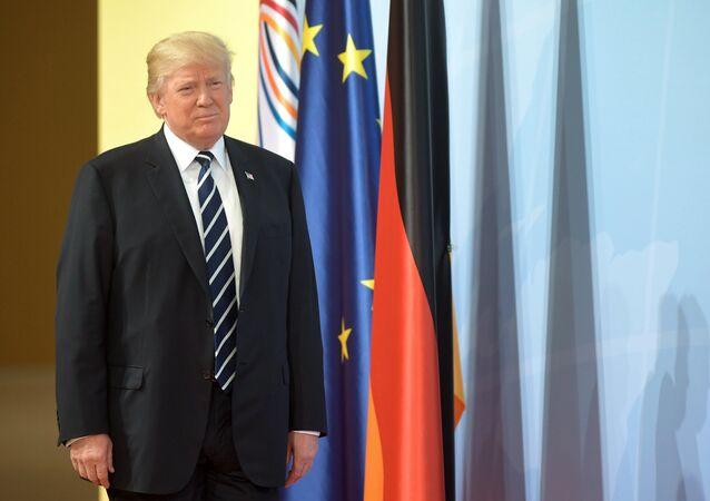 قمة مجموعة العشرين في هامبورغ، ألمانيا - الرئيس الأمريكي دونالد ترامب، 7 يوليو/ تموز 2017