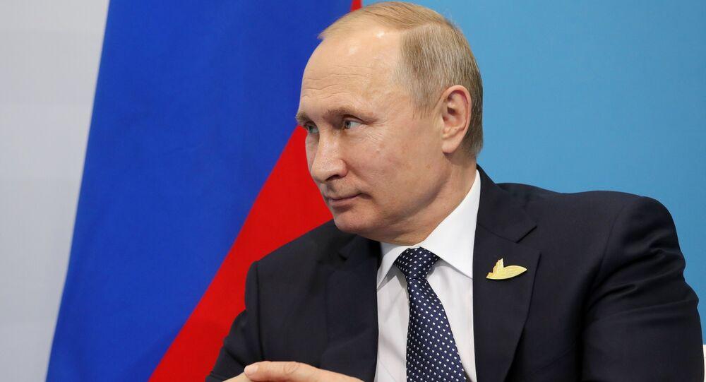 قمة مجموعة العشرين في هامبورغ، ألمانيا - الرئيس الروسي فلاديمير بوتين، 7 يوليو/ تموز 2017