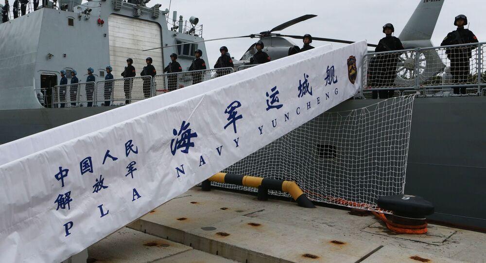 وصول مجموعة من ثلاث سفن تابعة للبحرية الصينية، بقيادة المدمرة هيفي، إلى القاعدة الرئيسية لأسطول بحر البلطيق، ميناء بالطيسك، للمشاركة في المناورات البحرية الروسية الصينية المشتركة التعاون البحري 2017