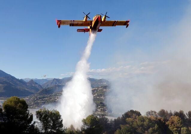 حرائق الغابات في جنوب فرنسا