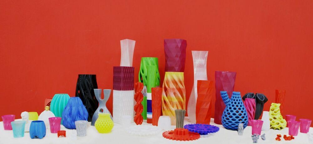 مزهريات ناتجة عن طباعة ثلاثية الأبعاد