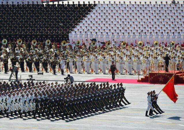 جيش التحرير الشعبي الصيني خلال الاحتفال بذكرى السبعين للحرب العالمية الثانية
