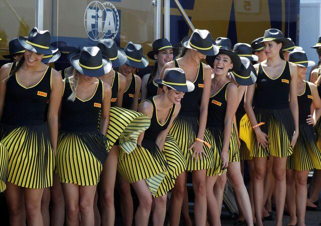 فتيات الجائزة الكبرى فورمولا-1 في بودابست، المجر 30 يوليو/ تموز 2017