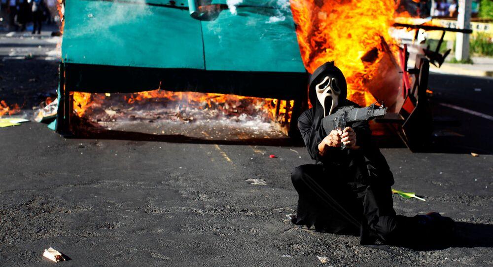 مسيرة في ذكرى مقتل طلاب جامعة مظاهرة عام  من قبل عسكريين في 1975 في سان سلفادور، السلفادور 30 يوليو/ تموز 2017
