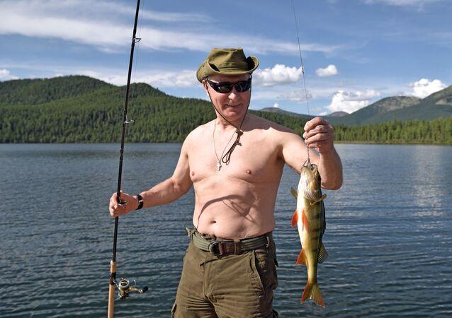 الرئيس الروسي فلاديمير بوتين خلال إجازته في سيبيريا