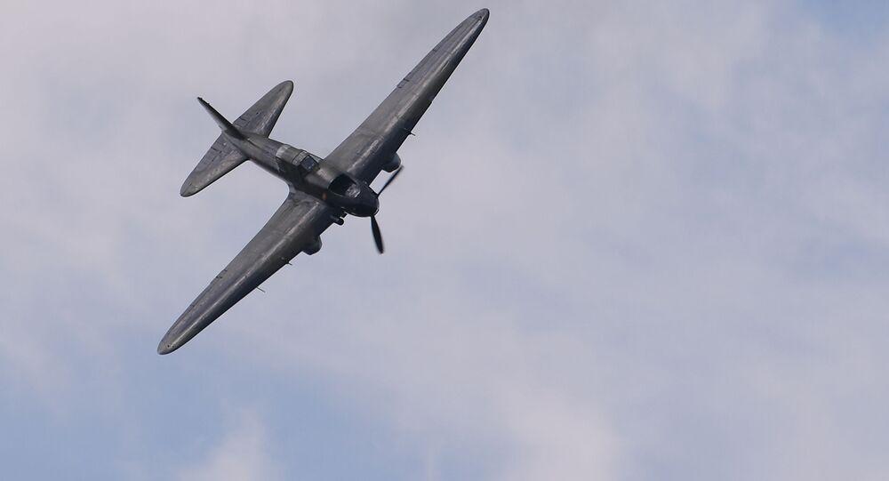 الطائرة إيل-2، طائرة سوفيتية هجومية شاركت في الحرب الوطنية العظمى، خلال العرض الجوي-الفضائي في المعرض الدولي للطيران ماكس-2017 في جوكوفسكي