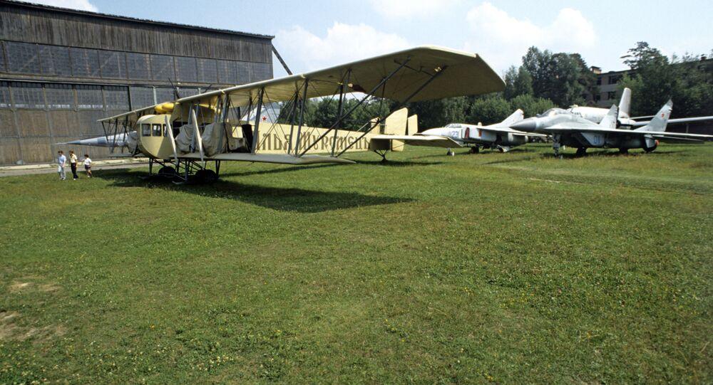 الطائرة الهجومية إليا مورميتس في متحف القوات العسكرية الجوية السوفيتية فيبلدة مونينا