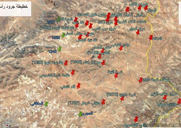 خريطة للجيش اللبناني