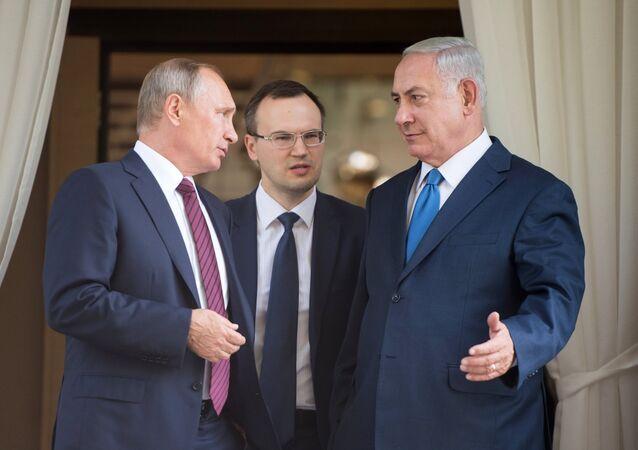 لقاء الرئيس الروسي بوتين ورئيس الوزراء الإسرائيلي نتنياهو
