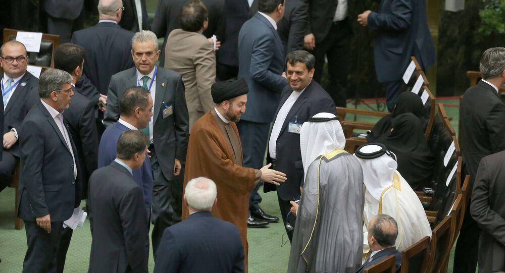 عمار الحكيم في مراسم تنصيب الرئيس الإيراني حسن روحاني