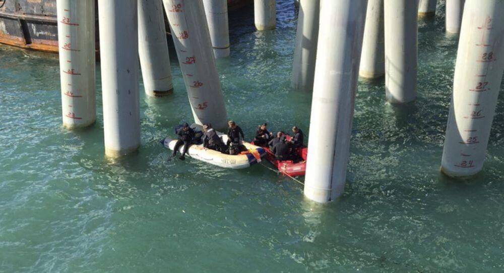 إنقاذ 33 من ركاب الحافلة التي سقطت في البحر الأسود
