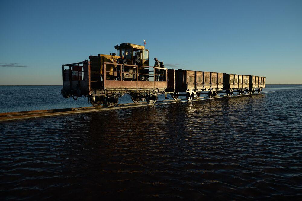 بحيرة مالينوفوي - أو بحيرة التوت بمنطقة مخايلوفسكي في ألطايسكي كراي