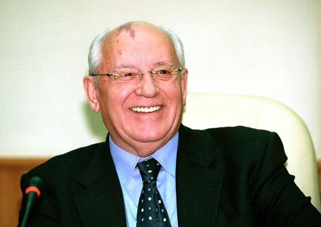 الرئيس السابق للاتحاد السوفياتي ميخائيل غورباتشيف
