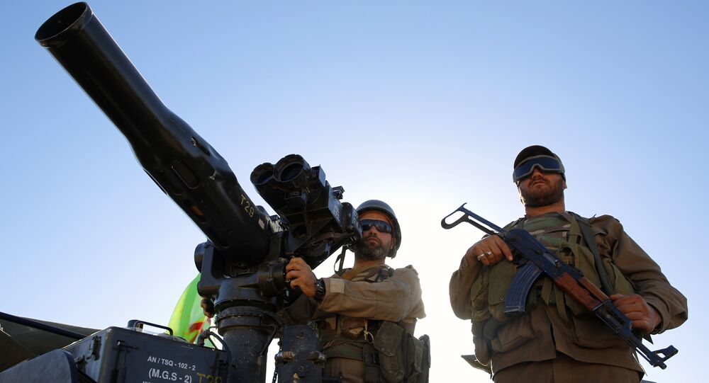 قوات المقاومة حزب الله في وادي الخيل على الحدود اللبنانية السورية، 29 يوليو/ تموز 2017