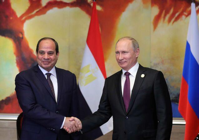 الرئيس الروسي فلاديمير بوتين والمصري عبد الفتاح السيسي
