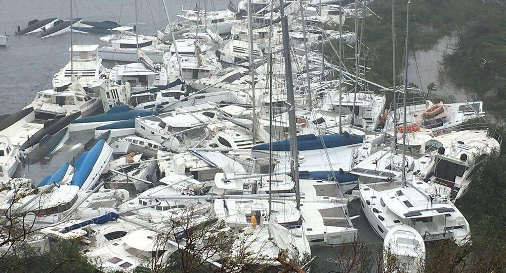 إعصار إيرما في جزر فيرجن آيلاندز، 6 سبتمبر/ أيلول 2017