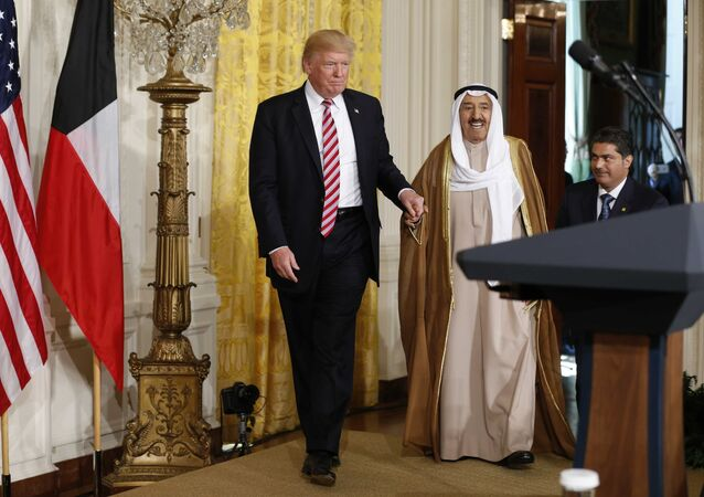 الرئيس الأمريكي دونالد ترامب وأمير الكويت