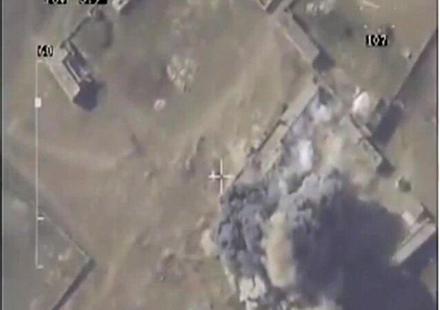 غارة جوية على الإرهابيين في سوريا