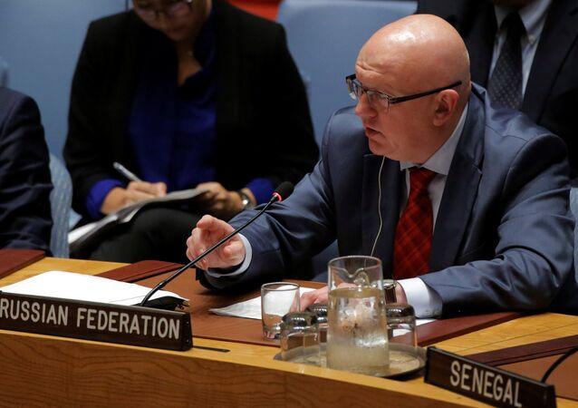 ممثل روسيا الدائم لدى الأمم المتحدة فاسيلى نيبنزيا