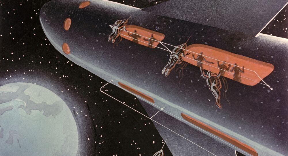 مركبة فضائية (لوحة مرسومة)