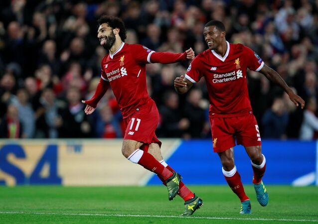 المصري محمد صلاح يسجل مع ليفربول في دوري الأبطال