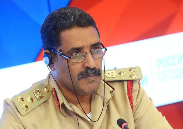 المتحدث الرسمي باسم القوات المسلحة الليبية العميد أحمد المسماري