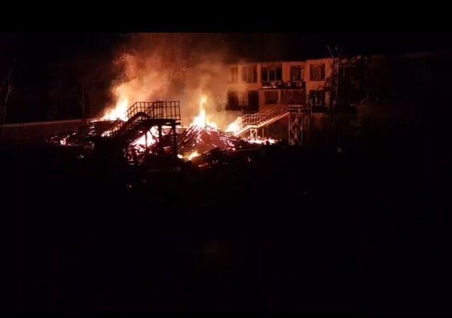 حريق بمخيم صيفي بأوكرانيا
