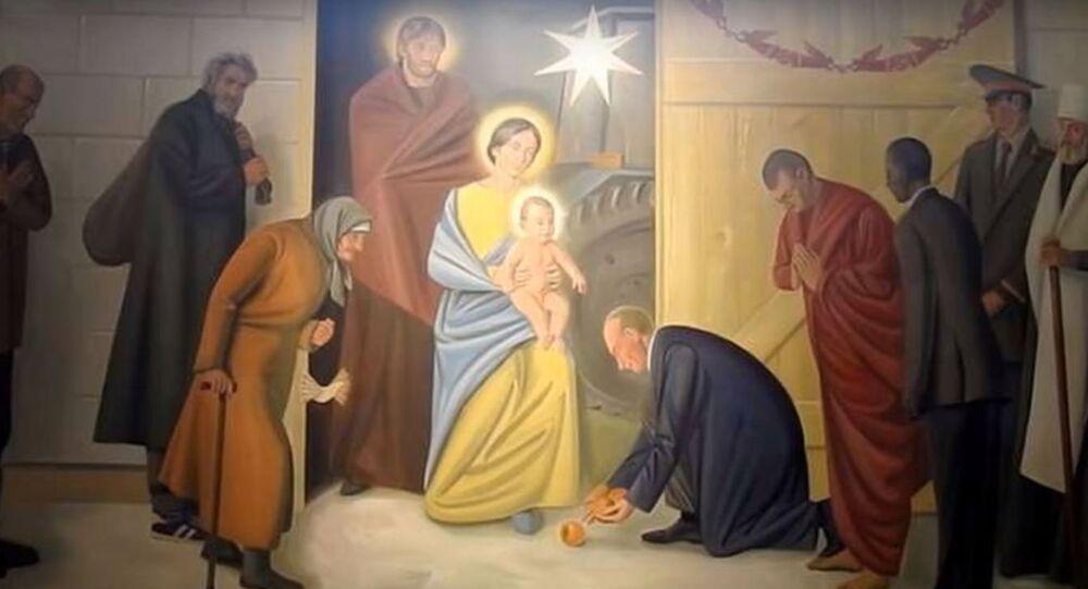 لوحة جدارية لكنيسة
