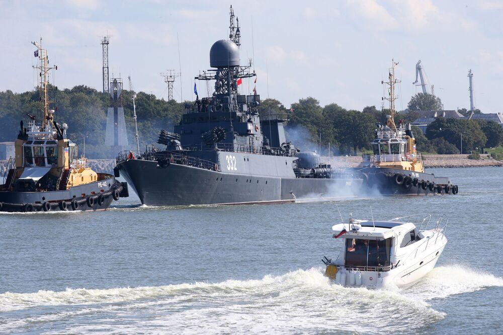 مناورات الغرب-2017 بين روسيا وبيلاروسيا - سفينة صغيرة مضادة للغواصات كالميكيا