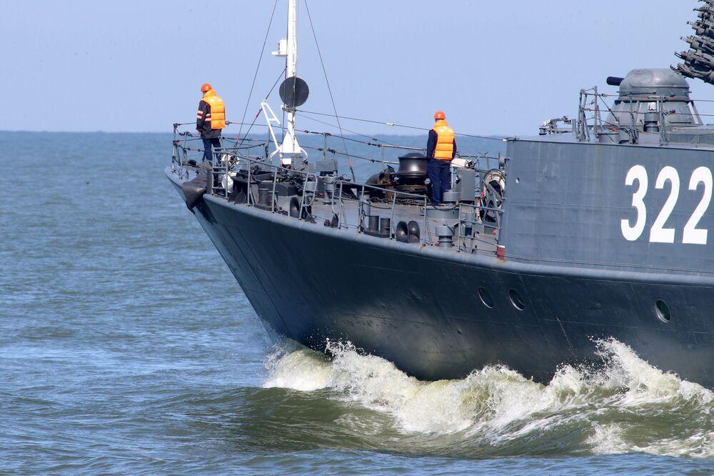 مناورات الغرب-2017 بين روسيا وبيلاروسيا - سفينة مضادة للغواصات كاباردينو-بالكاريا