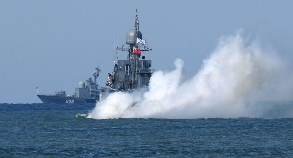 مناورات الغرب-2017 بين روسيا وبيلاروسيا - سفن أسطول بحر البلطيق