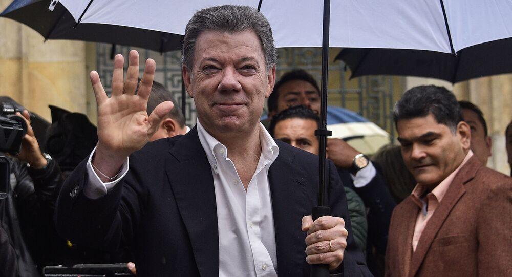 الرئيس الكولومبي خوان مانويل سانتوس