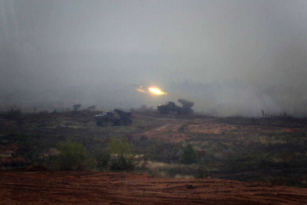 تدريبات استراتيجية مشتركة زاباد - 2017 للقوات المسلحة الروسية والبيلاروسية في منطقة لوزكي