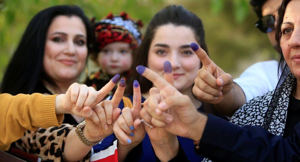 نساء شاركن في استفتاء كردستان