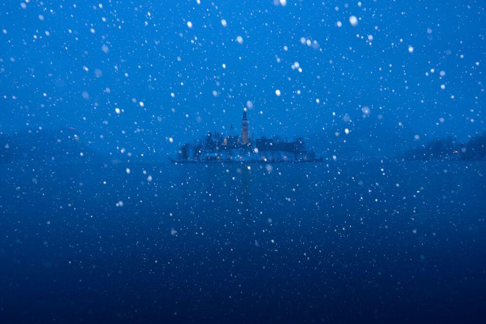 عاصفة ثلجية للمصورة، كاسيا نواك، التي دخلت في نهائيات مسابقة مصور الطقس لعام 2017