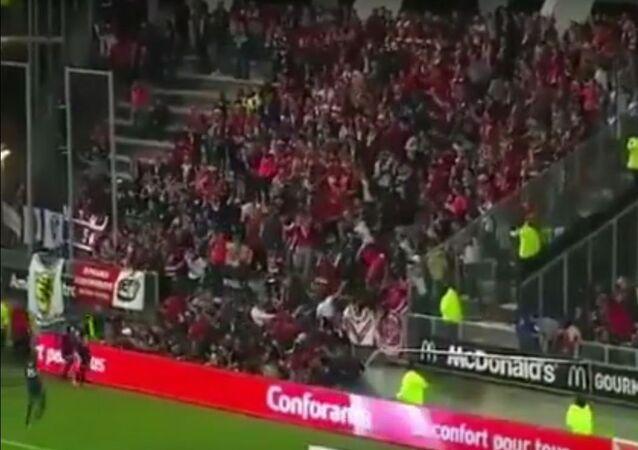 تدافع المشجعين في الدوري الفرنسي