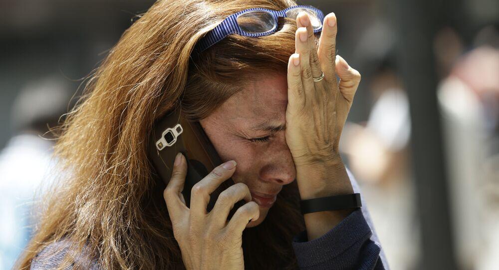 امرأة تبكي