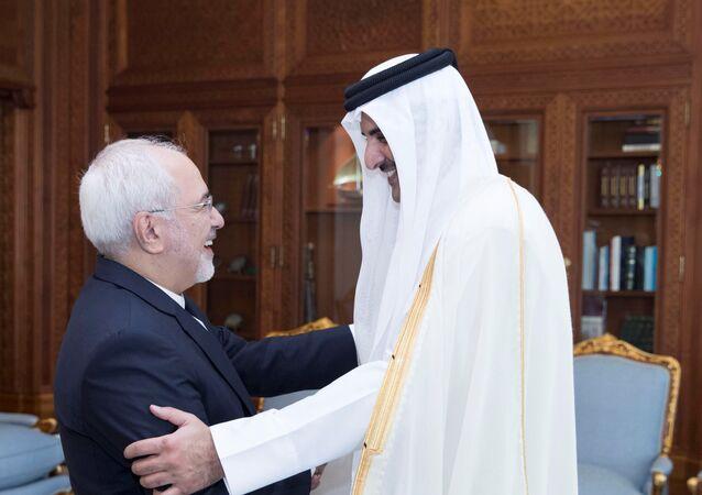 أمير قطر يرحب بظريف