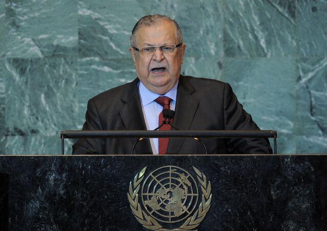 الرئيس العراقي السابق جلال طالباني