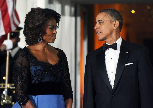 ميشيل وباراك أوباما في البيت الأبيض