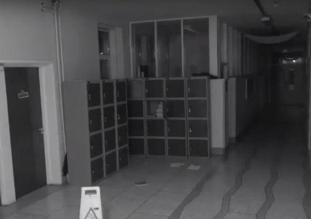 أشياء مرعبة التقطتها كاميرات المراقبة في مدرسة ايرلندية.